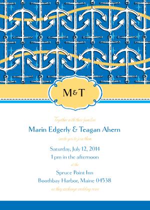 Wedding Invitation - à l'ancre