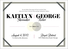 Wedding Invitation - becoming one