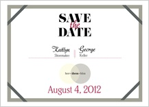 Save the Date Card - becoming one