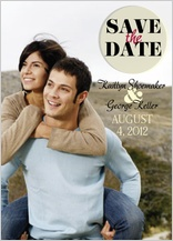 Save the Date Card with photo - becoming one