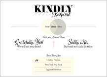 Response Card with menu options - becoming one