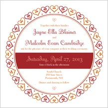 Wedding Invitation - hearts
