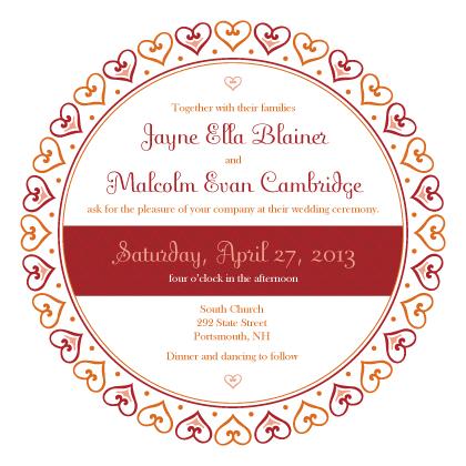 Wedding Invitation - Hearts