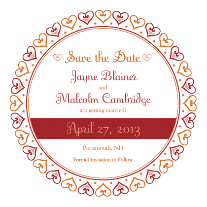 Save the Date Card - Hearts