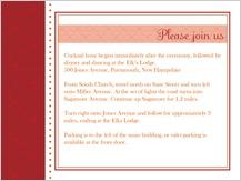 Reception Card - hearts