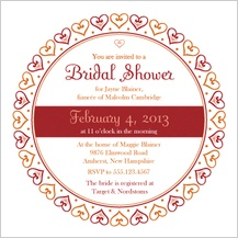 Wedding Shower Invitation - hearts