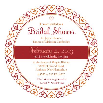 Wedding Shower Invitation - Hearts