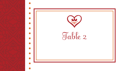 Place Card - Hearts