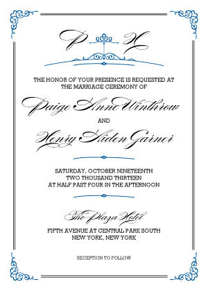 Wedding Invitation - Traditions