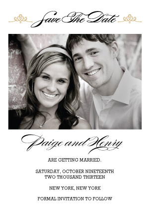 Save the Date Card with photo - Traditions