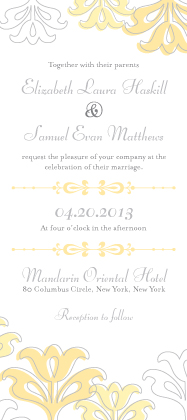 Wedding Invitation - Floral Damask