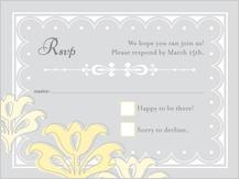 Response Card - floral damask