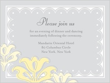 Reception Card - floral damask