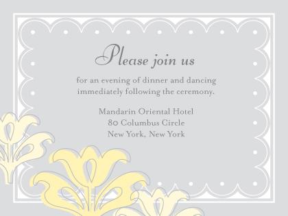 Reception Card - Floral Damask