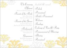 Program - floral damask