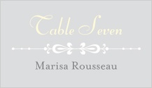 Place Card - floral damask