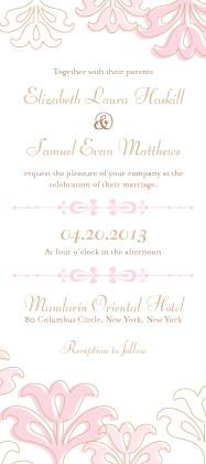 Wedding Invitation - Floral Damask