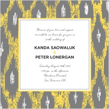 Wedding Invitation - ikat