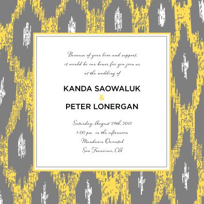 Wedding Invitation - Ikat