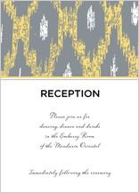 Reception Card - ikat