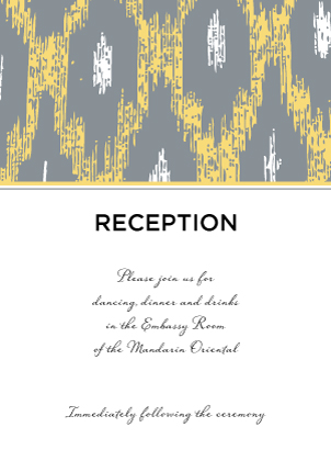 Reception Card - Ikat