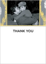 Wedding Thank You Card with photo - ikat