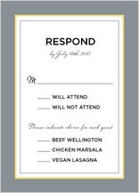 Response Card with menu options - ikat
