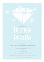 Bachelorette Party Invitation - bling bachelorette!