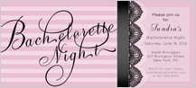 Bachelorette Party Invitation - pretty lace