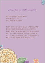 Reception Card - blooming gold