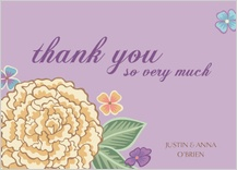 Wedding Thank You Card - blooming gold