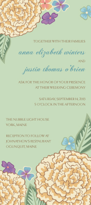 Wedding Invitation - Blooming Gold