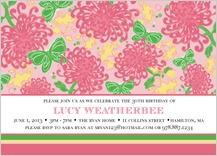 Birthday Party Invitation - chrysanthemum