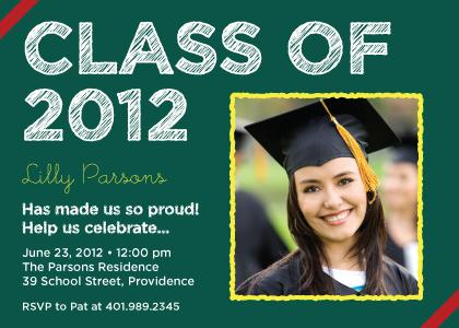 Graduation Party Invitation - Chalkboard