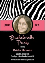Bachelorette Party Invitation - let's go wild