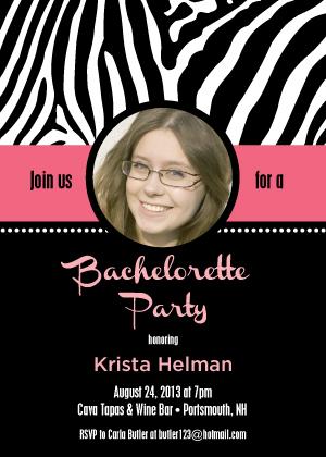 Bachelorette Party Invitation - Let's Go Wild