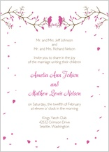 Wedding Invitation - love birds