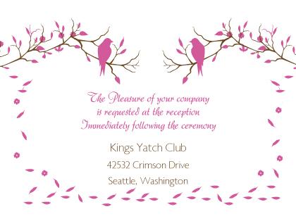 Reception Card - Love Birds