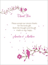 Wedding Thank You Card - love birds