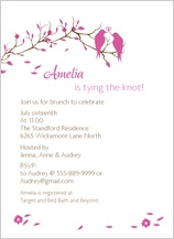 Wedding Shower Invitation - love birds