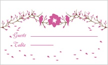 Place Card - love birds