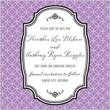 Save the Date Card - honorable - save the date