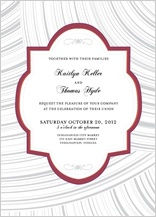 Wedding Invitation - elegant swoops