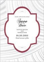Save the Date Card - elegant swoops