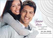 Save the Date Card with photo - elegant swoops