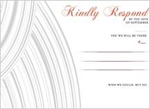 Response Card - elegant swoops