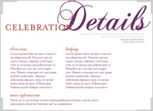 Reception Card - elegant swoops