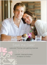 Save the Date Card with photo - ironwork