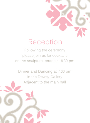 Reception Card - Ironwork