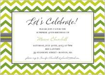 Birthday Party Invitation - chevron